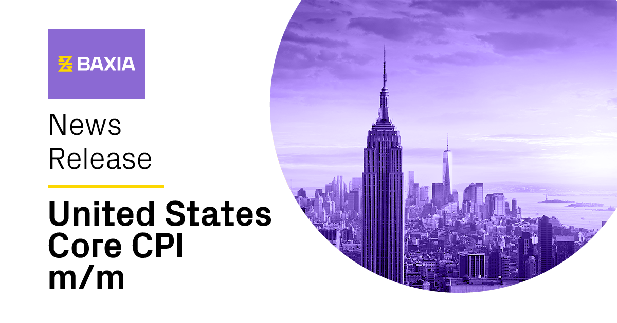 Baxia news release for United States core CPI.